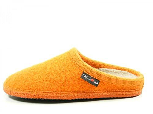Haflinger 611086 Walktoffel uni Pantofole unisex adulto Orange