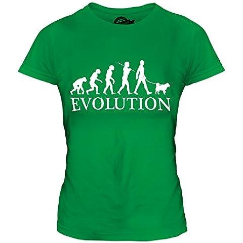 CandyMix Spitz Finlandés Evoluzione Umana T-Shirt da Donna Maglietta