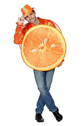 m Kostüm Orange Orangen Fruchtkostüm Frucht Obst Fasching Karneval (Orange Frucht Kostüme)