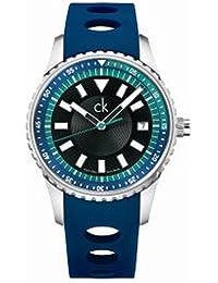 Calvin Klein K3211377 - Reloj de pulsera hombre, caucho, color azul