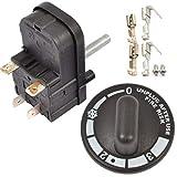 Spares2go MI74minuto timer & calore temperatura manopola di controllo interruttore con connettori per Dualit tostapane