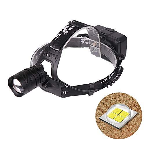 DSstyles LED-Scheinwerfer 40000 Lumen, mit Zoom, Stirnlampe, Taschenlampe, Laterne, für Camping