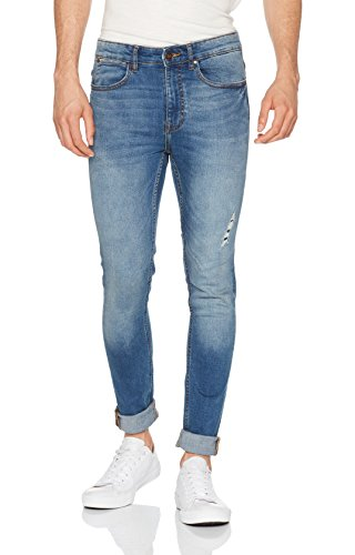 New Look Herren Skinny Jeans Kit Blau (Bright Blue)