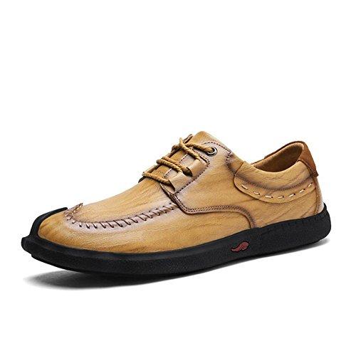 Hommes Casual Hommes Casual Chaussures En Cuir Baskets De Mode Confort En Plein Air Chaussures De Course Léger Conduisant Des Chaussures ( Color : Black3-41 ) Khaki1-44