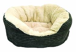 Rosewood Jumbo Cord/ Plush Dog Bed Medium