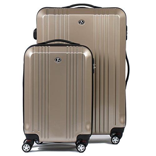 FERG-Conjunto-de-dos-maletas-CANNES-ABS-PC-gold-2-trolleys-funda-rgida-2-sizes-equipaje-dos-piezas-de-20-y-equipaje-28-con-4-ruedas-360