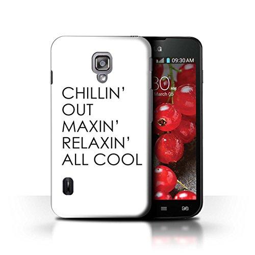 Stuff4® Hülle/Case für LG Optimus L7 II Dual/Chillin Out Muster/Komisch Prinz Fernsehserie Kollektion (Case Ii Lg Dual Optimus L7)