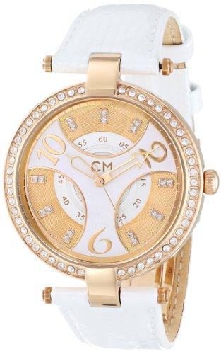 Carlo Monti - CM501-286 - Montre Femme - Quartz - Analogique - Bracelet cuir Blanc