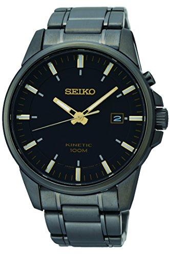Seiko Herren Analog Kinetik Uhr mit Edelstahl Armband SKA755P1
