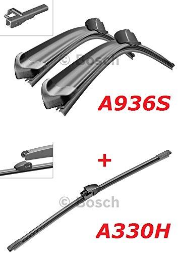 Preisvergleich Produktbild Bosch Scheibenwischer Front.- und Heckwischer - Aerotwin A936S Längen: 600 / 475mm (3397118936) & A330H Länge: 330mm (3397008006)