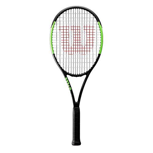 Wilson Tennisschläger, Blade Team, Unisex, Ambitionierte Freizeitspieler, Griffstärke L3, Schwarz/Grün, WR000410U3