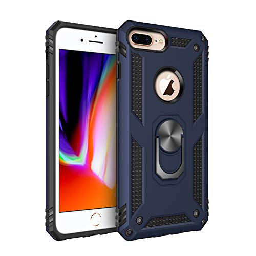 Wubaouk for iPhone 8 Plus Case, iPhone 7 Plus Case, 360 Degree Rotation Ring Holder with Magnetic Slim Soft Anti-Scratch Shockproof Kickstand Case Cover for iPhone 7 Plus/iPhone 8 Plus Slim Mount Speakers