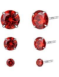 523ef56a365f YOURDORA 3 Pares Plata de Ley 925 Pendientes Tous Mujer con Cristal de  Swarovski Sencillo Joyería