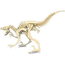Quay Velociraptor grande artesanía en madera Kit de construcción FSC