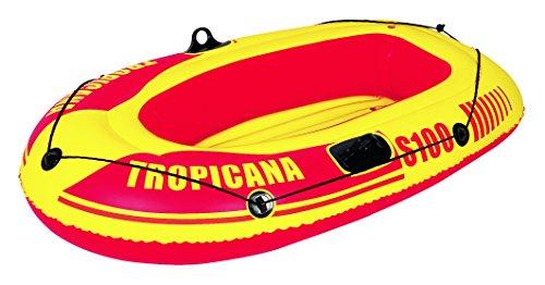 Jilong Tropicana Boat S100 - aufblasbares Kinder Ruderboot, für Kinder ab 6 Jahren, mit 45kg Tragkraft, Schlauchboot Maße 143x86x26 cm