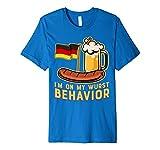 Wurst Verhalten Funny Deutscher Oktoberfest Bier Geschenk T-Shirt