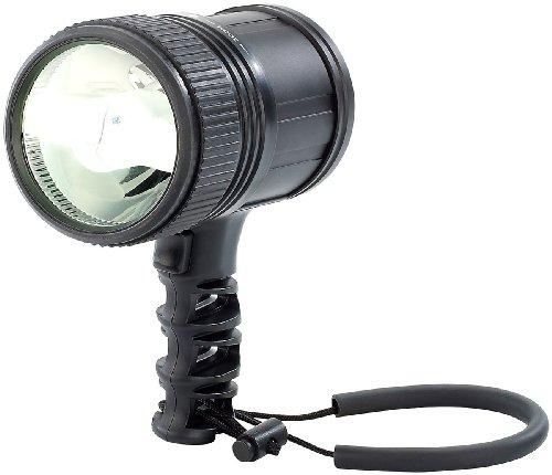 KryoLights Akku-Suchscheinwerfer: Akku-LED-Handlampe/Handscheinwerfer 10 W, bis zu 350m Leuchtweite (Akku-Handleuchte) 8300 Usb