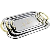 Teiera/Caffettiera in acciaio inox da vassoio argento vassoio Set di