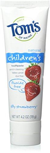 Toms Of Maine Tom's Of Maine Silly Strawberry Fluorid Zahncreme, für Kinder, 4,2 g, 6 Stück pro Box.