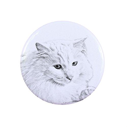 ArtDog Ltd. Türkische Angora Katze, Eine Taste, Abzeichen mit Einer Katze -