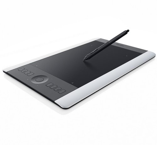 Wacom Intuos PRO Medium PTH-651S-ENES - Tavoletta professionale Pen&Touch - Colore Argento Nero - include kit