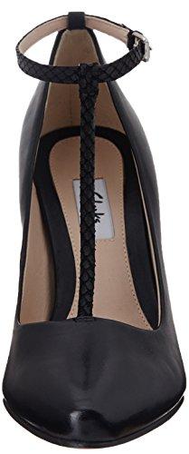 Clarks Crumble Berry, Chaussures de ville femme Noir (Black Leather)