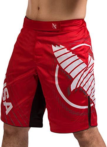 Hayabusa Chikara 4 Kampfshorts für Herren MMA Kampfsport Kickboxen Jiu Jitsu BJJ - Rot - Groß