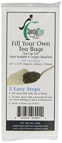 Special Tea Company Empty Tea Bags, 2.5 Inch x 2.75 Inch, 150 Count