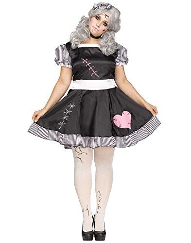 Broken Erwachsene Für Kostüm Doll - Damen Kostüm Broken Doll Zombie Outfit Halloween (XX-Large)
