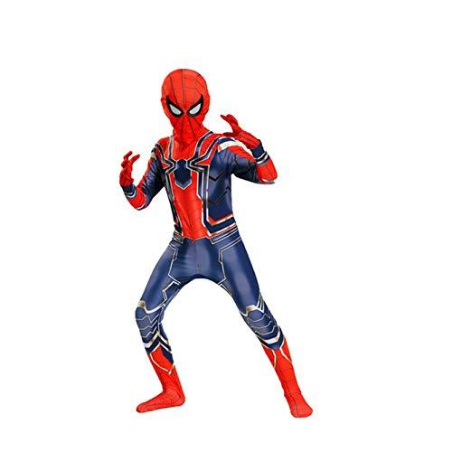 POIUYT Spiderman Homecoming Kostüm Cosplay Siamese Strumpfhosen Kind Erwachsene Thema Party Requisiten Halloween Kostüm 3D Print Rot-M (100-180 cm),Child-100CM