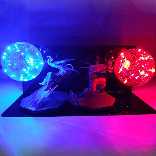 Dragon Ball Z Goku Fuerza Bombas Creative Action Figuras Noche Luz Led Para Niño Holiday Regalo Lámpara Dormitorio Decoración Iluminación
