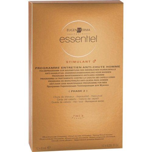 Essentiel - Programme Entretien Antichute Homme - Chute de Cheveux - 12x6 ml