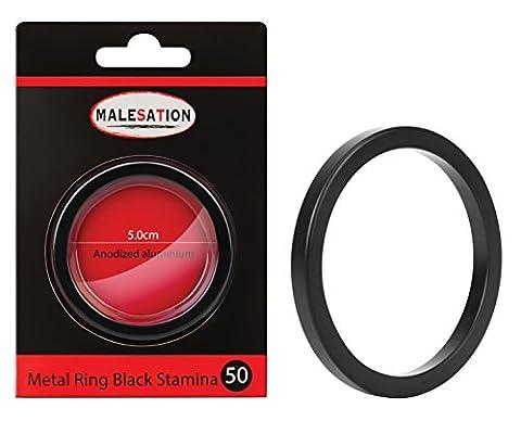 Cockring - Penisring - Metal Ring Black Stamina 50