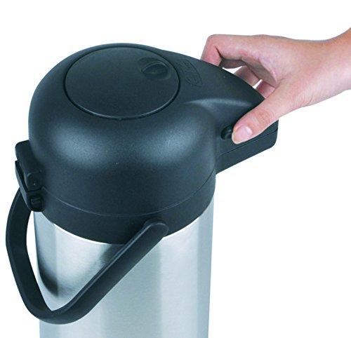 airpot 3l mit pumpmechanismus pumpkanne isolierkanne. Black Bedroom Furniture Sets. Home Design Ideas