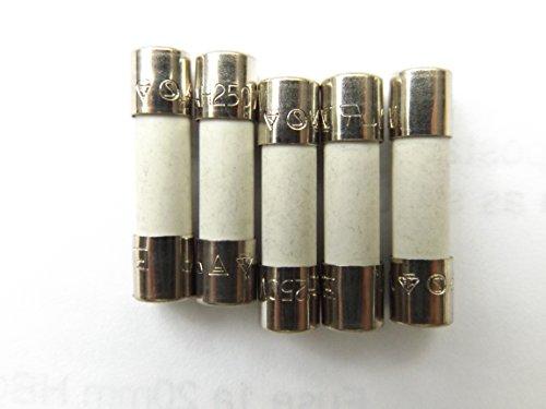 Sicherung 1A, 20mm, HBC, gegen Überspannung, T1a H 250 V, aus Keramik, 5 Stück