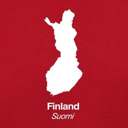 Finland / Finnland Silhouette - Damen T-Shirt - 14 Farben Rot