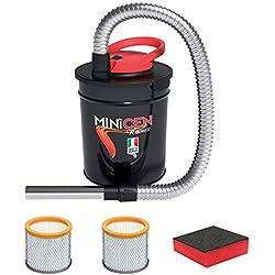 Ribitech - Aspire-cendres électrique Minicen 800W-10l avec double filtre et éponge