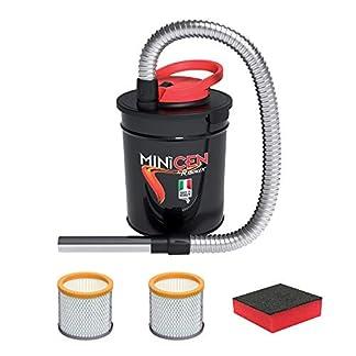 Aspirador de cenizas eléctrico Minicen – 800W de potencia–Capacidad 10Lt – Doble filtro y esponja