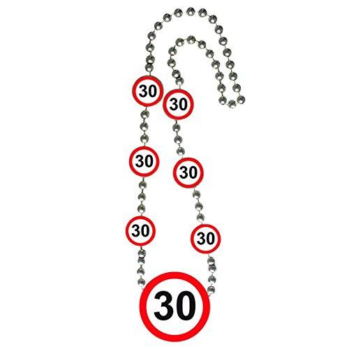 Folat Verkehrsschild Geburtstag Halskette of Honor-30. Geburtstag
