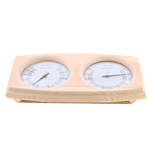 Sharplace Sauna Thermo-Hygrometer aus Holz