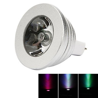 JINLI Bulbs Alta qualità, GU5.3(MR16) Luci LED da palcoscenico MR16 1 LEDs LED ad Alta intesità Oscurabile Controllo a Distanza Decorativo Colori primari 250lm RGB Adatta la casa e la Cucina