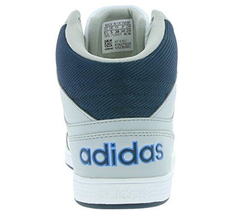 Adidas Schnürstiefelette Kaltfutter B74656 Mid weiß Hoops Jungen K Grau BqfxB6arw