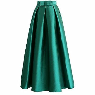 JANAK Women's Silk Skirt (Green, Medium)