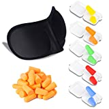 50 Paar Ohrstöpsel + 3D Schlafbrille, Gehörschutzstöpsel für Gehörschutz, ideal auf Arbeit, besonders leicht zu tragen und leise, mit Aufbewahrungsbox