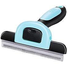 Peine profesional de la preparación del perro, promueve la piel más sana del animal doméstico y la herramienta del cepillo de pelo para el pelo corto y largo (Azul L)