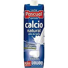 Pascual Leche Calcio Entera - Paquete de 6 x 1000 ml - Total: 6000 ml