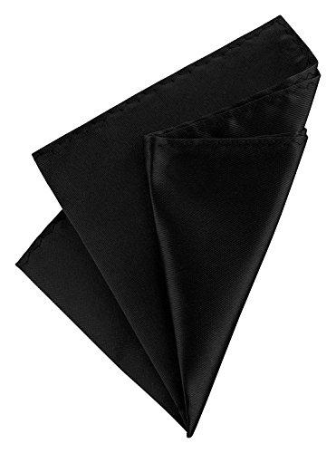 Einstecktuch Taschentuch einfarbig Polyester Schwarz (Schwarzes Einstecktuch)