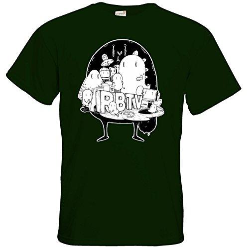 getshirts - Rocket Beans TV Official Merchandising - T-Shirt - Brains Bottle Green