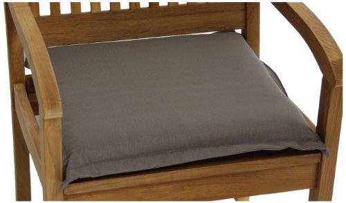 Edge-outdoor-sitzkissen-kissen (beo P108 Auerbach BA1 Saumkissen für Hocker, Sessel oder Bänke circa 46 x 49 cm, circa 6 cm Dick)