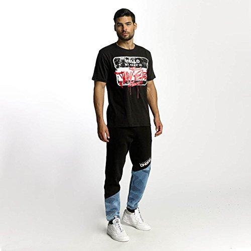 Dangerous DNGRS Uomo Maglieria/T-Shirt Hello Nero